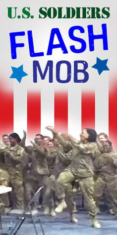 U.S. Soldiers Flash Mob