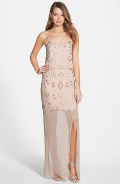 Nicole Miller Ikat Beaded Silk Blouson Gown available at  Nordstrom Ikat  Pattern f62824f829b8