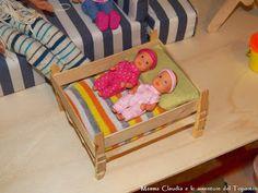 Letto per Barbie (o Ken) e lettino per le bimbe