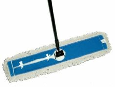 """JANITORIAL"" DUST MOP Size : Janitorial dust mop Strong cotton yarn with blue canvas back lacquered hardwood handle with 180 degree swivel lock collar wide high tempered steel frame Boxed Dusting Tips, Janitorial Supplies, Tear, Tool Organization, Steel Frame, Home Kitchens, Cleaning Supplies, Outdoor Power Equipment, Hardwood"