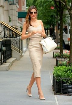 Miranda Kerr balanced the skin-baring nature of her top