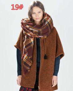 Luxury Brand Kallove scarf za winter big square Scarf Plaid women Scarf Unisex Acrylic Shawls blanket scarves warm bufandas