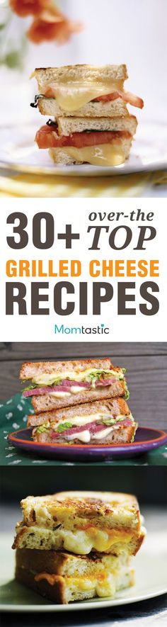 "collection of ""30+ Ways to Make Grilled Cheese""; some highlights: ""Mushrooms, Onion and Gouda Grilled Cheese"" - ""Sweet-Savory Onion and Apple Grilled Cheese"" - ""Jalapeno Popper Grilled Cheese"""