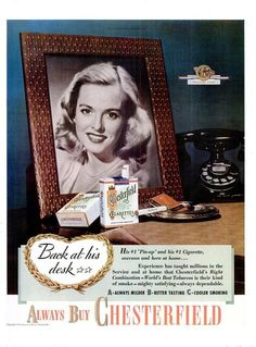 630e18bb 1945 Paul Jones Whiskey & Chesterfield Cigarettes Print Poster  Advertisements Record Turn Table Nostalgic Bar Pub Tavern Wall Art Home  Decor