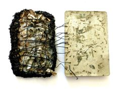 compendium of hidden meanings   Ines Seidel \ book made with pages of a personal diary, yarn, concrete and coffee