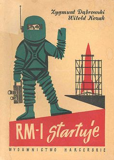 1950s science fiction art | Poland Spaceman – 1950′s