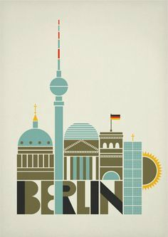 Vintage Travel berlin art and design posters Solvita Marriott - A selection of Berlin, Germany poster designs. via showusyourtype I really like the Currywurst poster which one do you like best? Le Blog Du Goumy, Party Vintage, Such Und Find, Berlin Art, Berlin Graffiti, Retro Poster, Travel Illustration, Vintage Travel Posters, Illustrations Posters