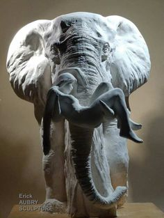 SCULPTURE ELEPHANT - Erick Aubry