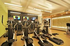 RT's fitness center will be simple, modern, and focused on cardio.