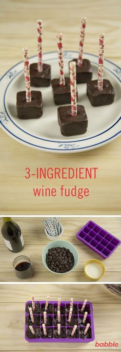 At times, parenthood can be crazy and chaotic, but we can always count on wine o clock to make everything a bit more tolerable. We all love our satisfying glass of wine, but it's time to change things up with these 3-Ingredient Wine Fudge treats. Made of dark chocolate, heavy cream, and red wine, these chocolate cubes are rich in fudgey goodness and melt deliciously in your mouth. Make this simple recipe for an evening of relaxation or invite a few friends over to enjoy these cubes wit...