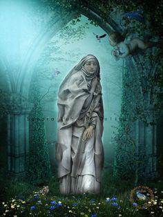 Saint Catherine of Siena Catholic Art Child by ThreeArchangels