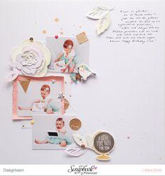Doppel-Layout linke Seite mit Crate Paper Wonder - von Ulrike Dold