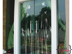 Vinyl wall art -frosted glass reeds