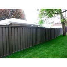 x 8 ft. Winchester Grey Wood-Plastic Composite Board-On-Board Privacy Fence Panel - The Home Depot Trex Fencing, Composite Fencing, Backyard Fences, Fenced In Yard, Front Yard Landscaping, Backyard Privacy, Fence Sections, Privacy Fence Panels, Flats
