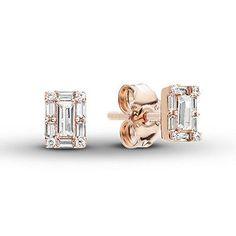 Gleader Une paire de Clous doreilles diamants en six griffes Argent