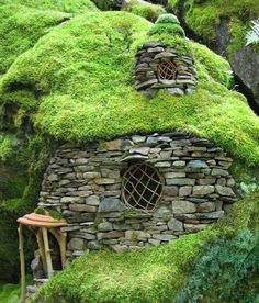 """Emerald Mossy House"" by Sally J. I want to live in a hobbit house. OMG i'd love to live in a hobbit house! Hobbit Hole, The Hobbit, Hobbit Land, Casa Dos Hobbits, Unusual Homes, Fairy Houses, Cob Houses, Garden Houses, Garden Sheds"