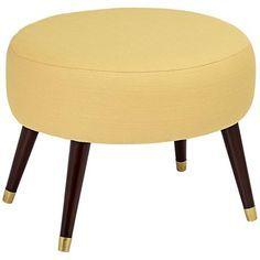 Syble Klein Mustard Oval Ottoman <3
