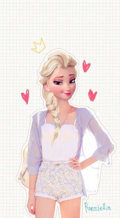 Elsa, de 'Frozen', con bolso de firma
