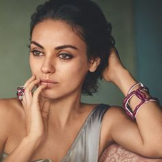 Fabergé Gypsy Ruby Bangle #AsSeenOn Mila Kunis in the Telegraph Magazine. #Fabergé #MilaKunis #Ruby