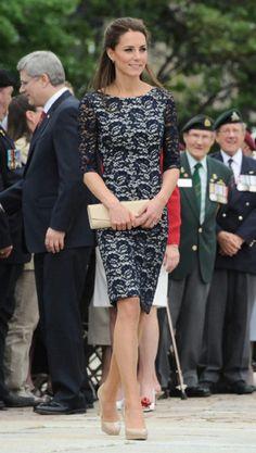 Kate Middleton wearing LK Bennett Sledge2 Shoe Erdem Resort 2012 Cecile Dress Tiffany & Co. Elsa Peretti Diamonds by the Yard Bracelet in Platinum Garrards Jewellers Royal Engagement Ring