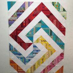 "Stephanie Sinden on Instagram: ""One more top done. #rainbowscrapchallenge2018 #soscrappy #ohscrap"" Rainbow Blocks, String Quilts, Scrap, Blanket, Instagram, Top, Blankets, Cover, Comforters"