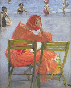 Arte a Tema 14 hrs · Edited Sir John Lavery (Irish, - Girl in a red dress reading by a swimming pool, 1887 Reading Art, Woman Reading, Beach Reading, Art And Illustration, Irish Painters, Kunst Online, Glasgow School Of Art, Irish Art, Art For Art Sake