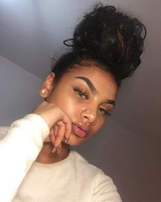 My hairstyle for today ❣️ Beauty Makeup, Hair Makeup, Hair Beauty, Black Girls Hairstyles, Cute Hairstyles, Hair Inspo, Hair Inspiration, Curly Hair Styles, Natural Hair Styles