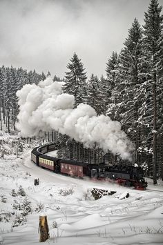 -ốc- Snow Train, The Black Forest, Germany.-ốc-Snow Train, The Black Forest, Germany. Winter Szenen, Winter Time, Paris Winter, Winter Wonderland, Beautiful World, Beautiful Places, Beautiful Forest, Beautiful Scenery, Black Forest Germany