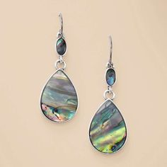 FOSSIL® Jewelry Earrings:Women Abalone Double Drop Earring JA5437 - Loving these!