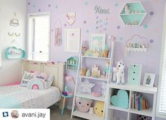 Pastel goodness in this adorable kids room by pastel__haven - Do it yourself Little Girl Bedrooms, Girls Bedroom, 6 Year Old Girl Bedroom, Purple Bedrooms, Girl Bedroom Designs, Pastel Girls Room, Pastel Room Decor, Lavender Girls Rooms, Purple Kids Rooms