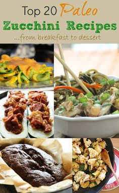 Top 20 Paleo Zucchini Recipes - Primally Inspired #paleo #zucchini #paleosides