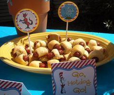 Go Dog Go---mini hotdogs wrapped in crescent rolls
