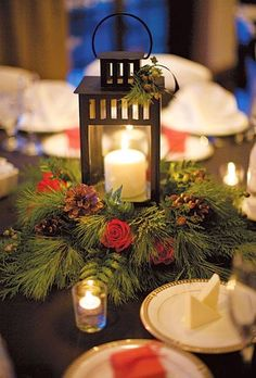 Beautiful Bridal: Pinecone Wedding Centerpieces