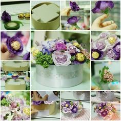 Bouquet Designed At Home With Flowers And Chocolates