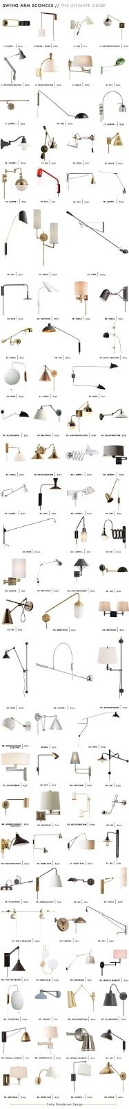 Emily Henderson Desing Swing Arm Sconce Roundup