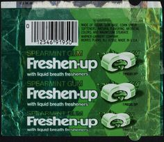 Freshen-up gum with the liquid center Teenage Years, Purse, Mint Jelly, Life, Bubble Gum, Bingo, Youth, 1970s Childhood, Childhood Toys