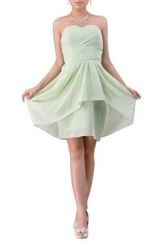 Chiffon Bridesmaid Dresses Light Green Knee Length Strapless A Line, Color Sage ,16 Adorona,http://www.amazon.com/dp/B00CMJ8DK6/ref=cm_sw_r_pi_dp_yka9rb0JQ7J434SF