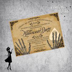 Gothic Invitation | Adult Halloween Party | Ouija Board Invitation | Halloween…