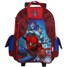 Spiderman Rolling School Backpacks For Boys