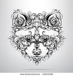 Raccoon Tattoo drawings | Raccoon Tattoo Stock Photos Illustrations And Vector Art
