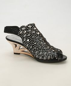Look what I found on #zulily! Simply Couture Black Rhinestone Sandal by Simply Couture #zulilyfinds