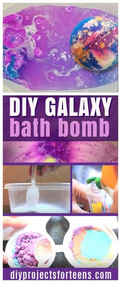 DIY galaxy bath bombs