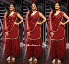 Priyamani in a patiala suit