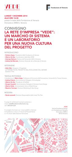 An italian meeting about the future of VEDE (Venice Excellence Design) network. #Venezia #Eventi #Design #Ideagroup