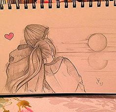 Art Drawings Love Couples Paintings 48 Ideas- Kunst Zeichnungen Liebe Paare Gemälde 48 Ideen Couples drawings a target = _ blank class = pintag href = / explore / couples / title = # couples explore . Cute Drawings Of Love, Cute Couple Drawings, Anime Couples Drawings, Cool Art Drawings, Art Drawings Sketches, Disney Drawings, Sketch Art, Drawing Ideas, Cute Drawings Tumblr