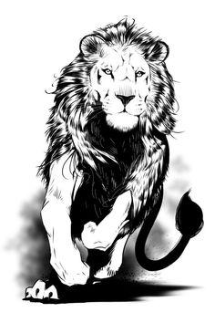 Animal Sketches, Animal Drawings, Art Sketches, Art Drawings, Lion Sketch, Arte Black, Lion Tattoo Design, Lion Design, Line Art Images