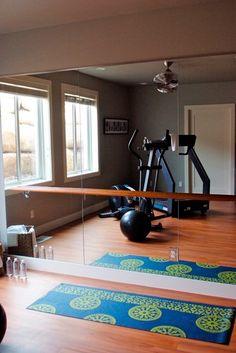 Trendy home gym room design ballet barre Workout Room Home, Gym Room At Home, Workout Rooms, At Home Workouts, Exercise Rooms, Dance Exercise, House Workout, Home Gym Design, House Design
