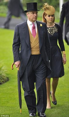Ascot Day 3, 2013...Prince Andrew accompanies his eldest daughter Princess Beatrice to the Royal box