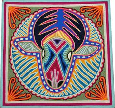 Huichol Yarn Painting, Native Mexican Art, Psychedelic Art