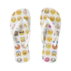 emoji flip flops sandals shoes ($36) ❤ liked on Polyvore featuring shoes, sandals and flip flops
